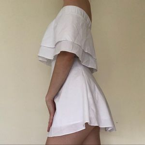 White off the shoulder dress!